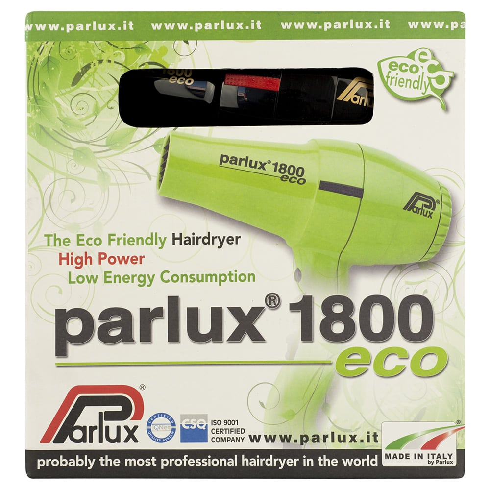 Parlux 1800 Eco Hair Dryer Recyclable Packaging