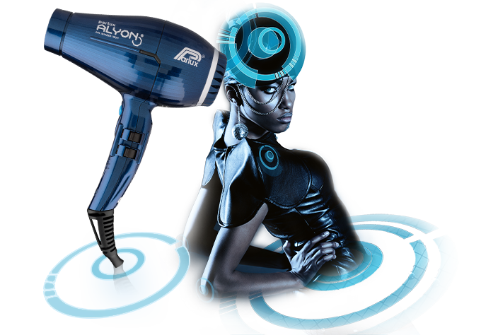 Parlux Alyon Air Ionizer Tech Hairdryer Midnight-Blue
