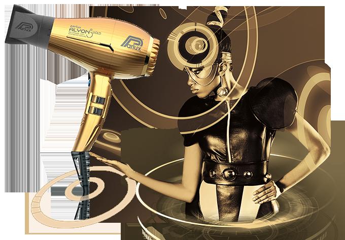 Parlux Alyon Gold Air Ionizer Tech Hairdryer